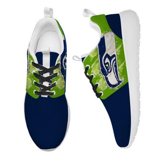 London Style Breathable Men Women Running Shoes Custom Seattle Seahawks