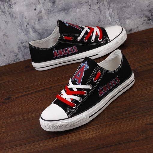 Los Angeles Angels Limited Print Low Top Canvas Sneakers