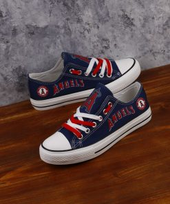 Los Angeles Angels Limited Low Top Canvas Sneakers