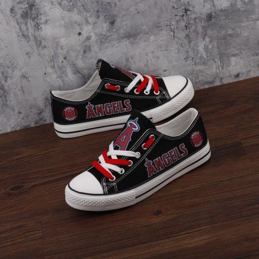 Los Angeles Angels Low Top Canvas Sneakers