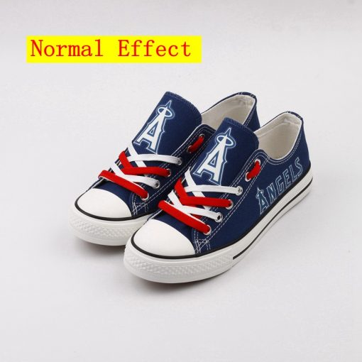 Los Angeles Angels Limited Luminous Low Top Canvas Sneakers