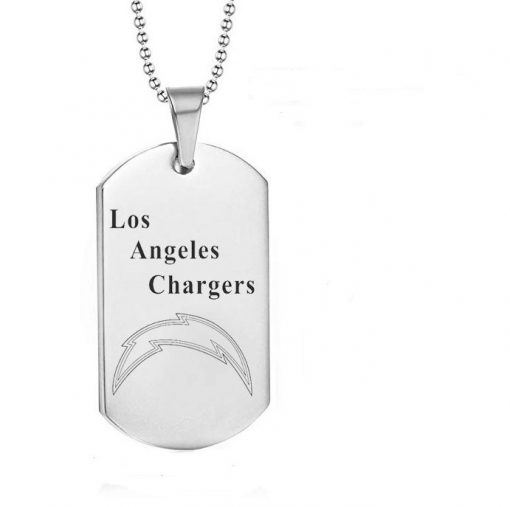 Los Angeles Chargers Engraving Tungsten Necklace