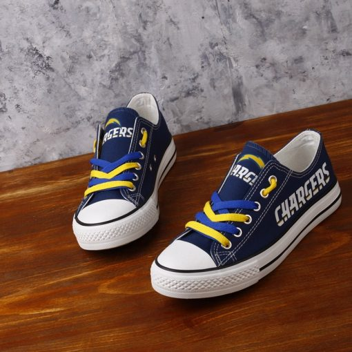 Los Angeles Chargers Limited Low Top Canvas Sneakers
