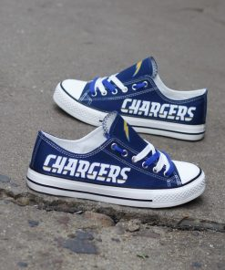 Los Angeles Chargers Limited Low Top Canvas Shoes Sport