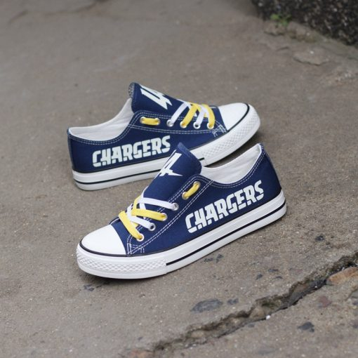 Los Angeles Chargers Limited Luminous Low Top Canvas Sneakers