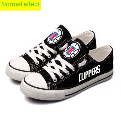 Los Angeles Clippers Limited Luminous Low Top Canvas Sneakers
