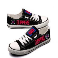 Los Angeles Clippers Low Top Canvas Shoes Sport