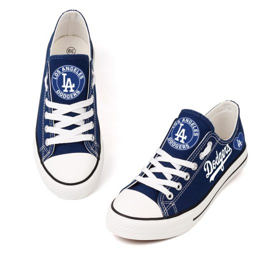 Los Angeles Dodgers Limited Print MLB Baseball Fans Low Top Canvas Shoes Sport Sneakers T DAC179L 1578404774452 1