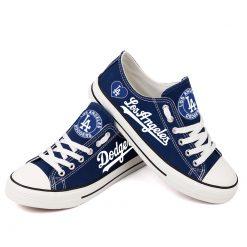Los Angeles Dodgers Low Top Canvas Shoes Sport