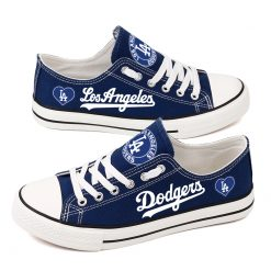 Los Angeles Dodgers Low Top Canvas Shoes Sport