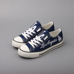 Los Angeles Dodgers Low Top Canvas Sneakers