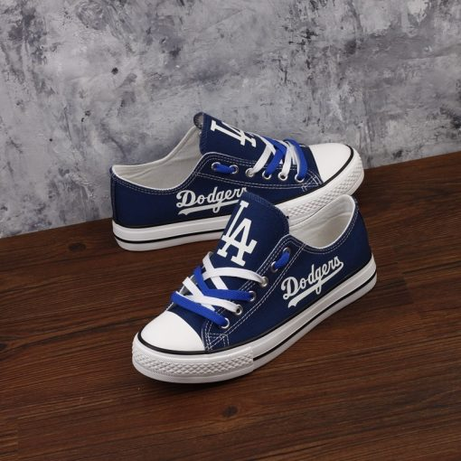 Los Angeles Dodgers Limited Luminous Low Top Canvas Sneakers