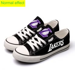 Los Angeles Lakers Limited Luminous Low Top Canvas Sneakers