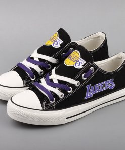 Los Angeles Lakers Low Top Canvas Sneakers
