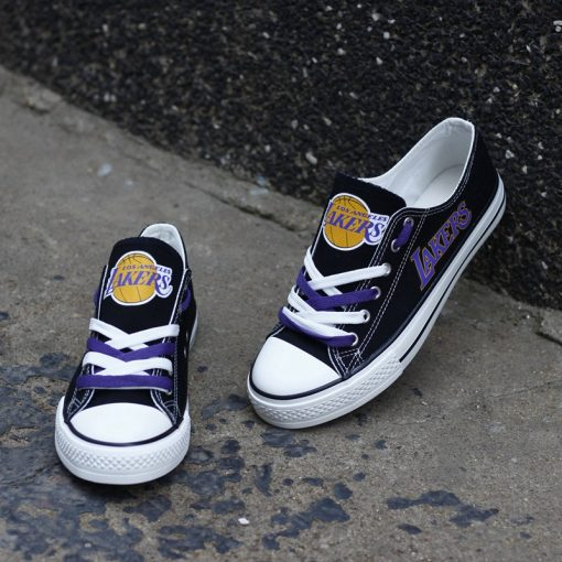 Los Angeles Lakers Low Top Canvas Shoes Sport