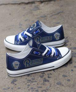 Los Angeles Rams Low Top Canvas Sneakers