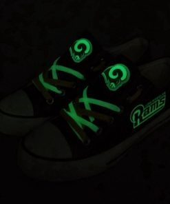 Los Angeles Rams Limited Luminous Low Top Canvas Sneakers