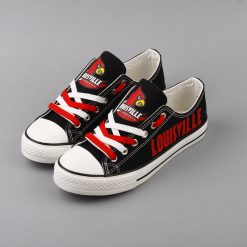 Louisville Cardinals Limited Low Top Canvas Sneakers