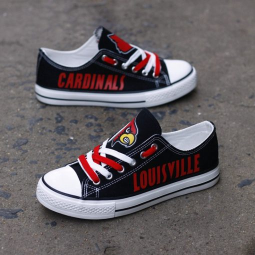 Louisville Cardinals Low Top Canvas Sneakers