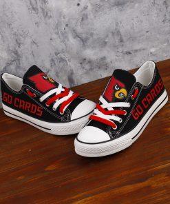 Louisville Cardinals Low Top Canvas Shoes Sport