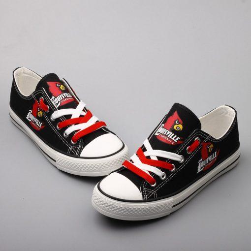 Louisville Cardinals Limited Low Top Canvas Shoes Sport