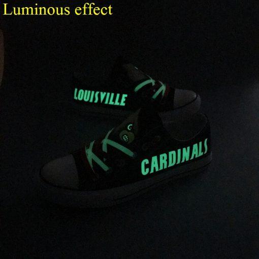 Louisville Cardinals Limited Luminous Low Top Canvas Shoes Sport