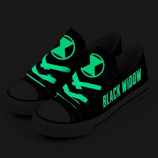 Marvel Avengers Hero Black Widow Luminous Printed Casual Canvas Shoes Sport