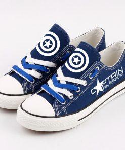 Marvel Avengers Hero Captain America Luminous Casual Canvas Shoes Sport