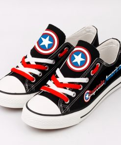 Marvel Avengers Hero Captain America Casual Canvas Shoes Sport