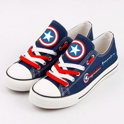 Marvel Avengers Hero Captain America Casual Canvas Low Top Sneakers