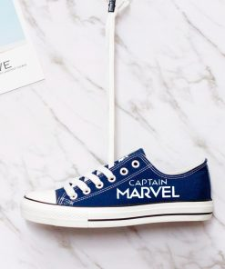 Marvel Avengers Hero Captain Marvel Luminous Casual Canvas Low Top Sneakers