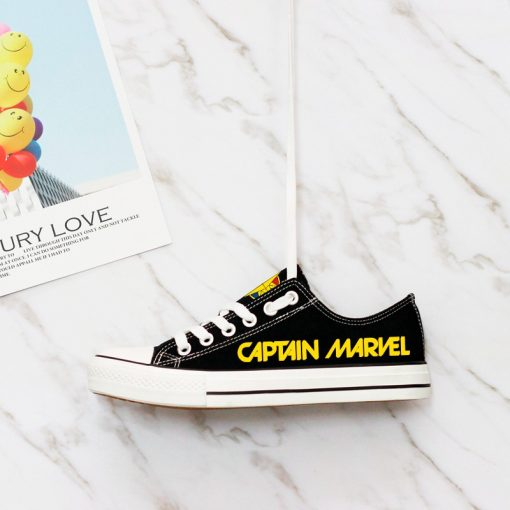 Marvel Avengers Hero Captain Marvel Casual Canvas Low Top Sneakers