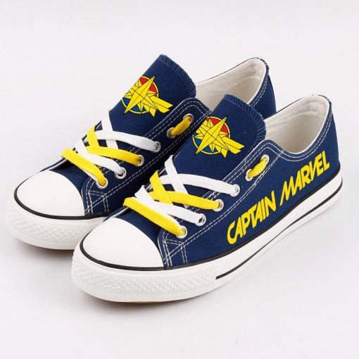 Marvel Avengers Hero Captain Marvel Casual Canvas Low Top Shoes Sport