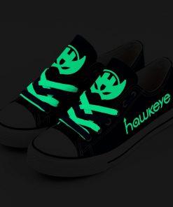 Marvel Avengers Hero Hawkeye Luminous Casual Canvas Low Top Sneakers