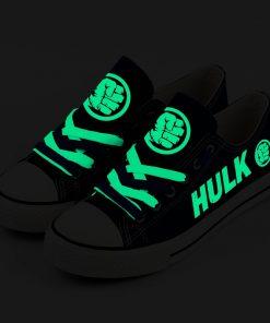 Marvel Avengers Hero Hulk Luminous Casual Canvas Low Top Sneakers