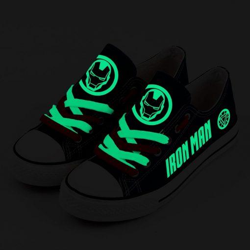 Marvel Avengers Hero Iron Man Luminous Casual Canvas Shoes Sport