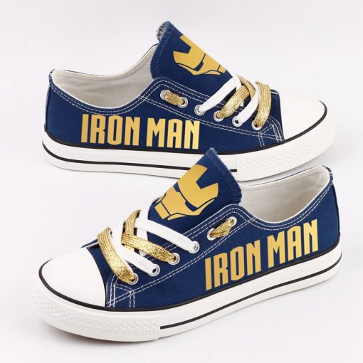 Marvel Avengers Hero Iron Man Casual Canvas Low Top Sneakers