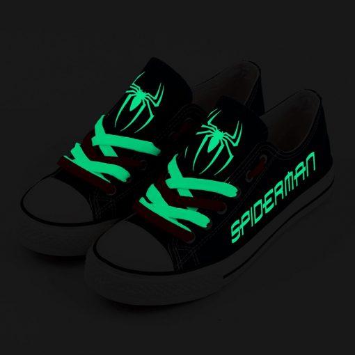 Marvel Avengers Hero Spider-Man Luminous Casual Canvas Shoes Sport