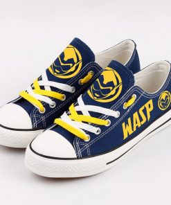 Marvel Avengers Hero WASP Casual Canvas Shoes Low Top Sneakers