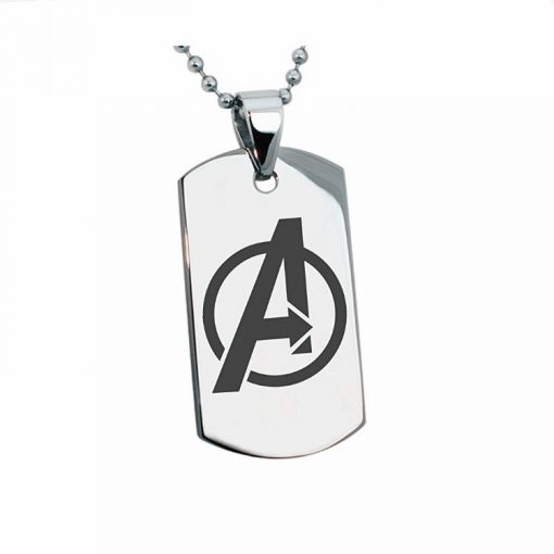 Marvel The Avengers Engraving Tungsten Necklace DIY