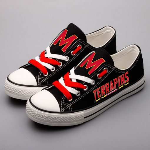 Maryland Terrapins Limited Low Top Canvas Shoes Sport