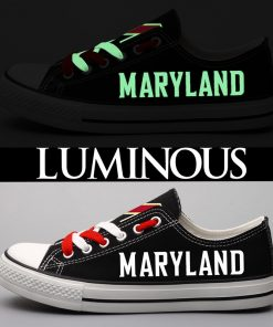 Maryland Terrapins Limited Luminous Low Top Canvas Sneakers