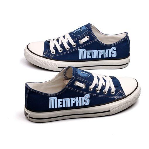 Memphis Grizzlies Low Top Canvas Sneakers