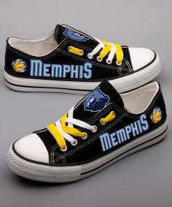 Memphis Grizzlies Fans Low Top Canvas Sneakers