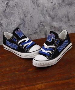 Memphis Tigers Limited Low Top Canvas Shoes Sport
