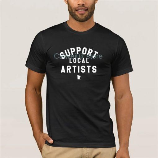 Men s Cool T Shirt Support Local Artists Minnesota 100 Cotton Men Printing Short Sleeve Tshirt