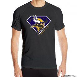 Men s Minnesotas Viking Short Sleeve Sportser Latest Tshirt Black