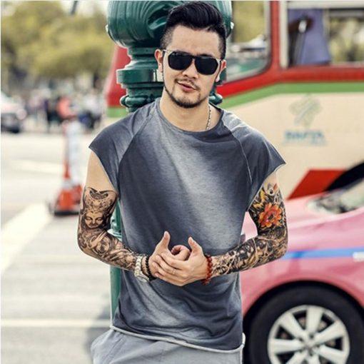 Men s t shirt Casual Slim Fit Short Sleeve Sports O Neck Shirt Top Blouse kansas