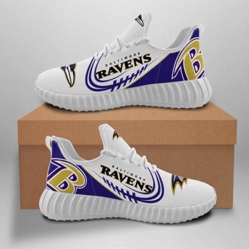 Men Women Yeezy Running Shoes Customize Baltimore Ravens Fans