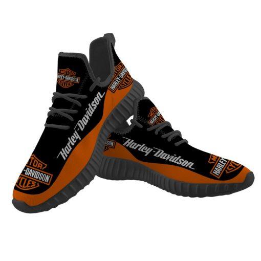 Men Women Yeezy Running Shoes Customize Harley Davidson